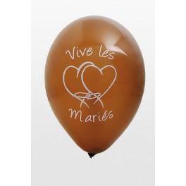 Ballon Vive les Mariés Chocolat
