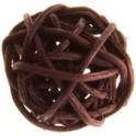 Petite Boule rotin Chocolat