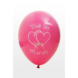 Ballon Vive les Mariés Fuchsia