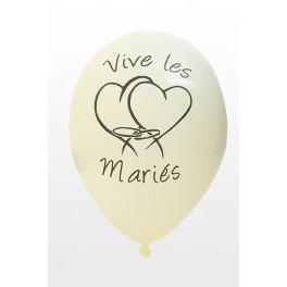 Ballon Vive les Mariés Ivoire