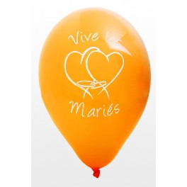Ballon Vive les Mariés Orange