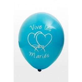 Ballon Vive les Mariés Turquoise