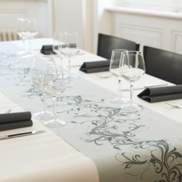 Chemin de table voie s che harmony gris perle chemin de table decodefolie - Chemin de table gris anthracite ...