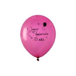 Ballon anniversaire Fuchsia 70 ans