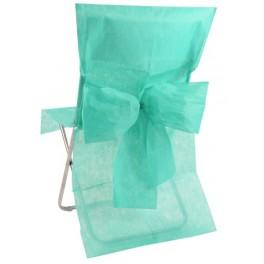 Housse de chaise avec noeud Vert d'eau