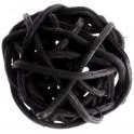 Petite Boule rotin Noir