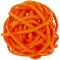 Petite Boule rotin Orange