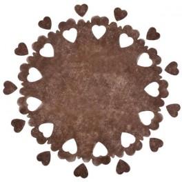 Centre de table perforé coeurs Chocolat