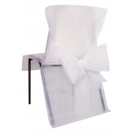Housse de chaise avec noeud blanc