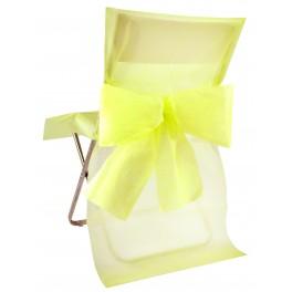 Housse de chaise avec noeud jaune