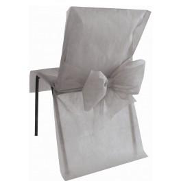Housse de chaise avec noeud gris