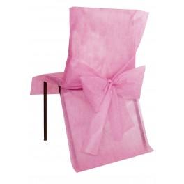 Housse de chaise avec noeud rose