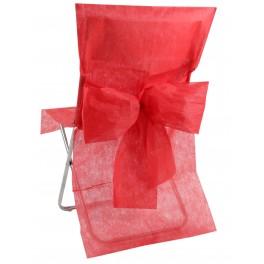 Housse de chaise avec noeud rouge