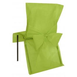 Housse de chaise avec noeud vert anis
