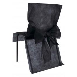 Housse de chaise avec noeud noir