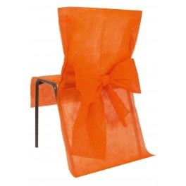 Housse de chaise avec noeud orange