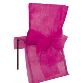 Housse de chaise avec noeud fuchsia