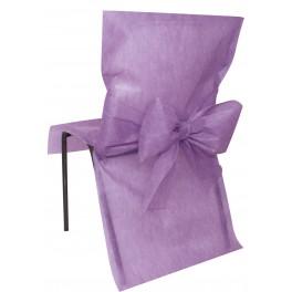 Housse de chaise avec noeud parme