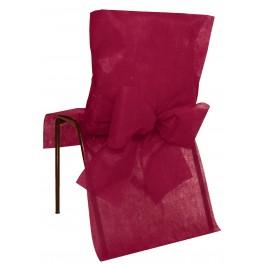 Housse de chaise avec noeud bordeaux