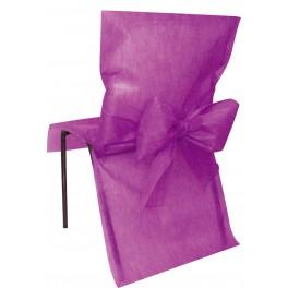 Housse de chaise avec noeud prune