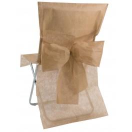 Housse de chaise avec noeud taupe
