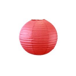 Lampion boule Rouge 30 cm