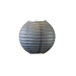 Lampion boule 30 cm Gris