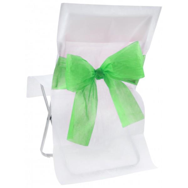 Housse de chaise bicolore blanc et vert - Housse de chaise blanc ...