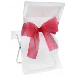 Housse de chaise bicolore Blanc / Rouge