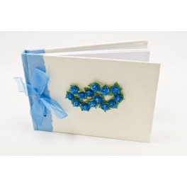 Livre d'or double coeurs Turquoise