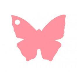 Marque place papillon Rose