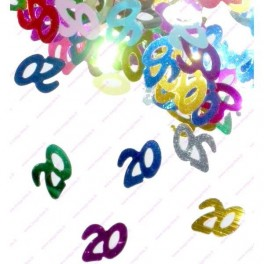 Confettis 20 ans Anniversaire