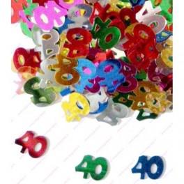 Confettis 40 ans Anniversaire