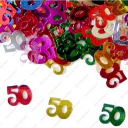 Confettis 50 ans Anniversaire