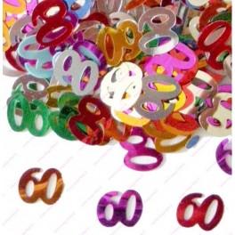 Confettis 60 ans Anniversaire