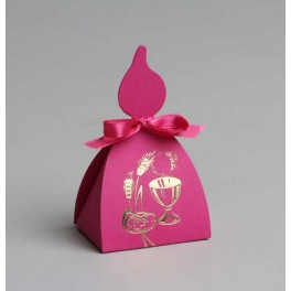 Boîte à dragées Bougie Fuchsia