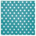 Serviette de table pois Turquoise