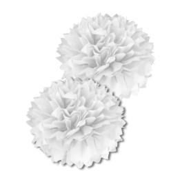 Pompon de soie Blanc