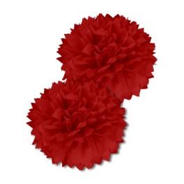 Pompon de soie Rouge