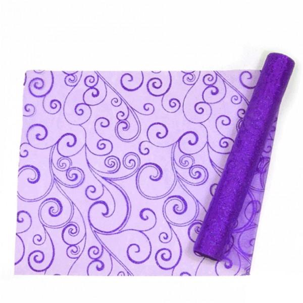 Chemin De Table Arabesque Violet Chemin De Table Decodefolie