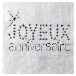 Serviette de table anniversaire argent Sachet de 20 serviettes de table... par LeGuide.com Publicité