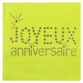 Serviette de table anniversaire vert Sachet de 20 serviettes de table... par LeGuide.com Publicité