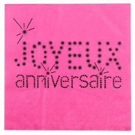 Serviette de table anniversaire fuchsia Sachet de 20 serviettes de table... par LeGuide.com Publicité